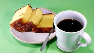 ザクザク長崎カステラとコーヒがよく合います